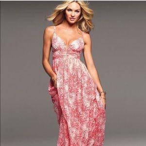 Moda International Pink and White Chiffon Dress